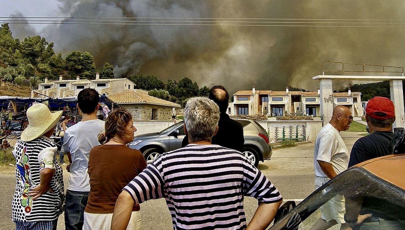 Pożary są częste w Grecji podczas upalnego i suchego lata (fot. George Foteades/Getty Images, zdjęcie ilustracyjne)