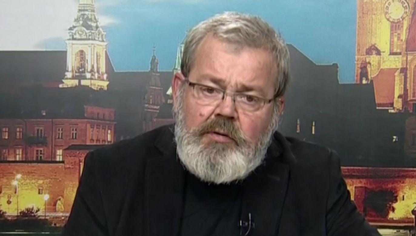 Pedagog został zawieszony przez władze UMK (fot. TVP)