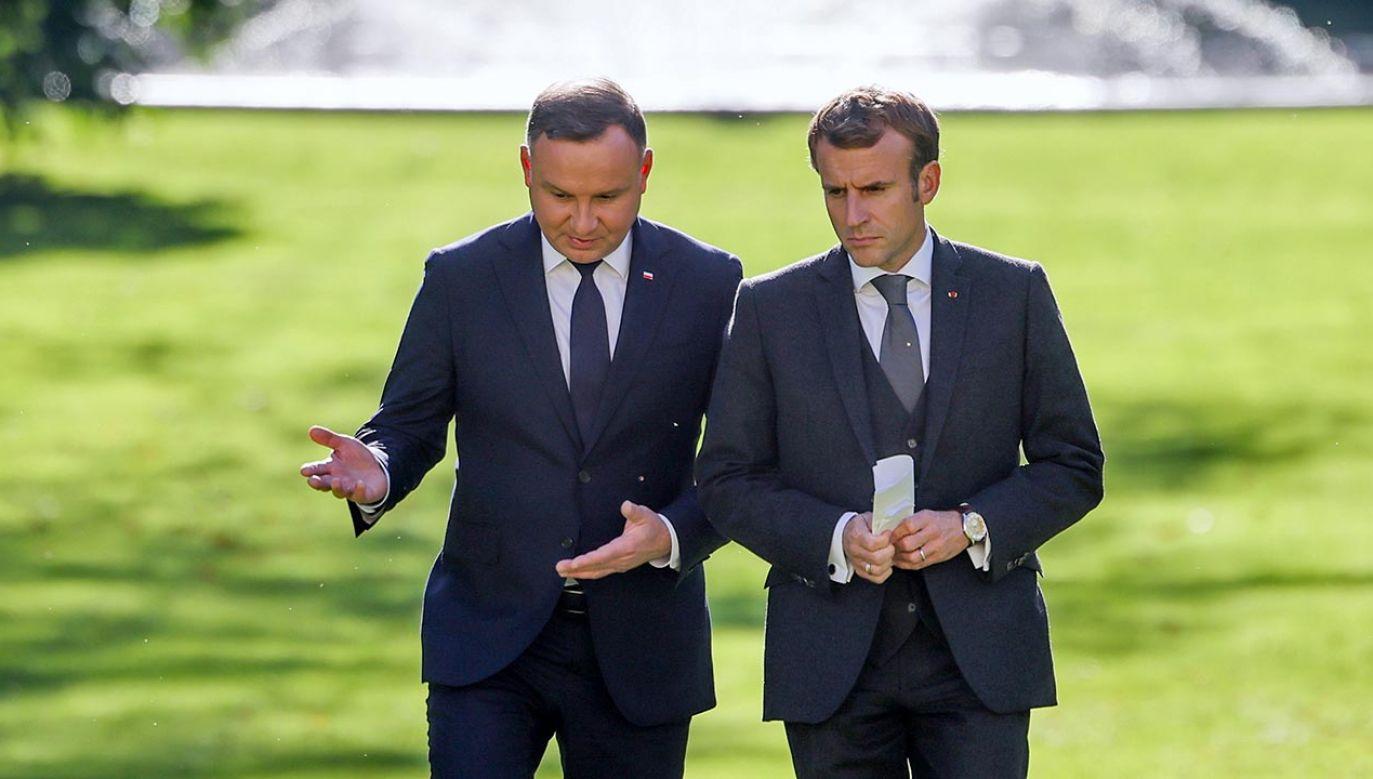 Andrzej Duda spotkał się z prezydentem Francji Emmanuelem Macronem (fot. KPRP/Jakub Szymczuk)