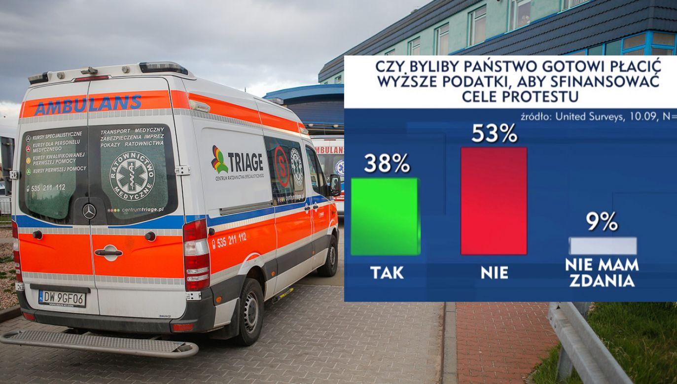 Czy potrzebna jest podwyżka podatków na ochronę zdrowia? (fot. Krzysztof Zatycki/NurPhoto via Getty Images)