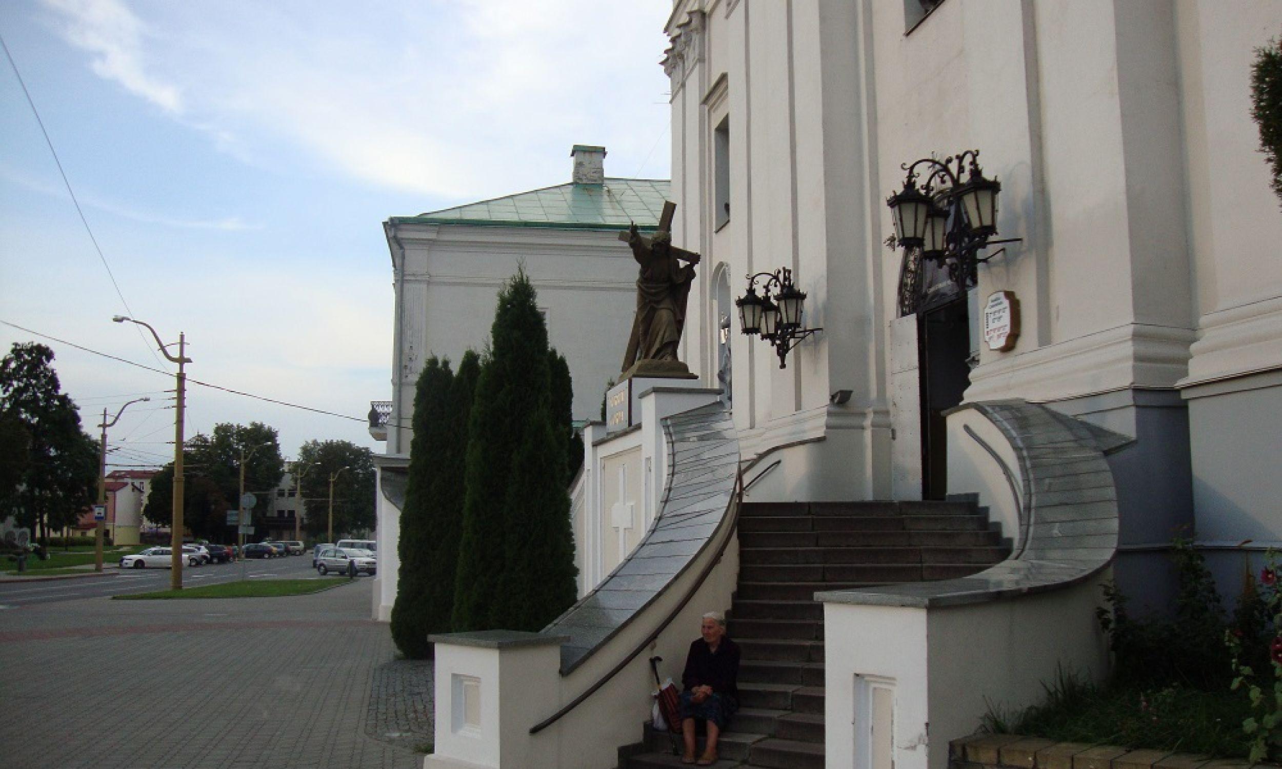 Bazylika katedralna św. Franciszka Ksawerego w Grodnie – pierwotnie kościół jezuitów, od 1782 kościół farny, od 1991 katedra diecezji grodzieńskiej. Fot. Beata Zubowicz