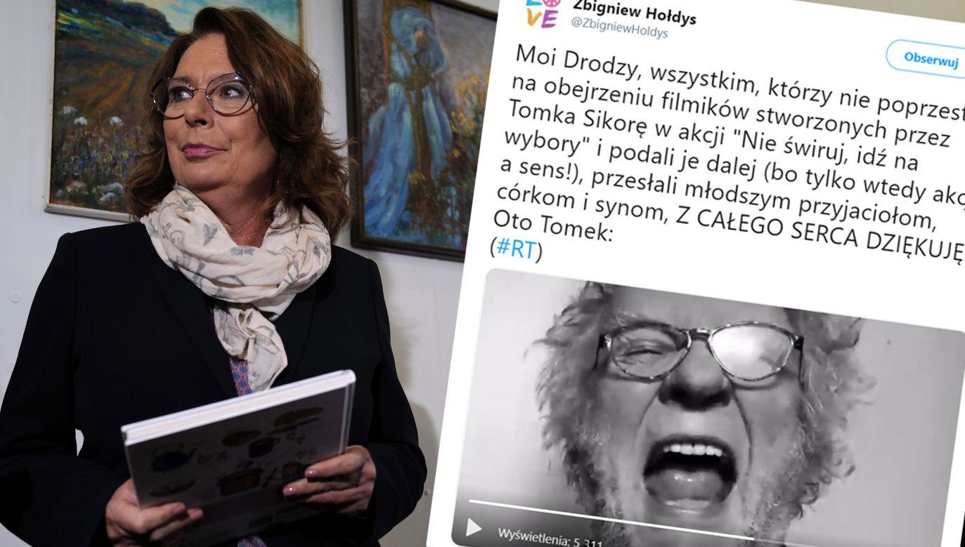 """Z całej akcji """"Nie świruj, idź na wybory"""" Małgorzata Kidawa-Błońska widziała jeden film i """"nie miała obiekcji"""" (fot. PAP/Andrzej Grygiel/tt@ZbigniewHoldys)"""