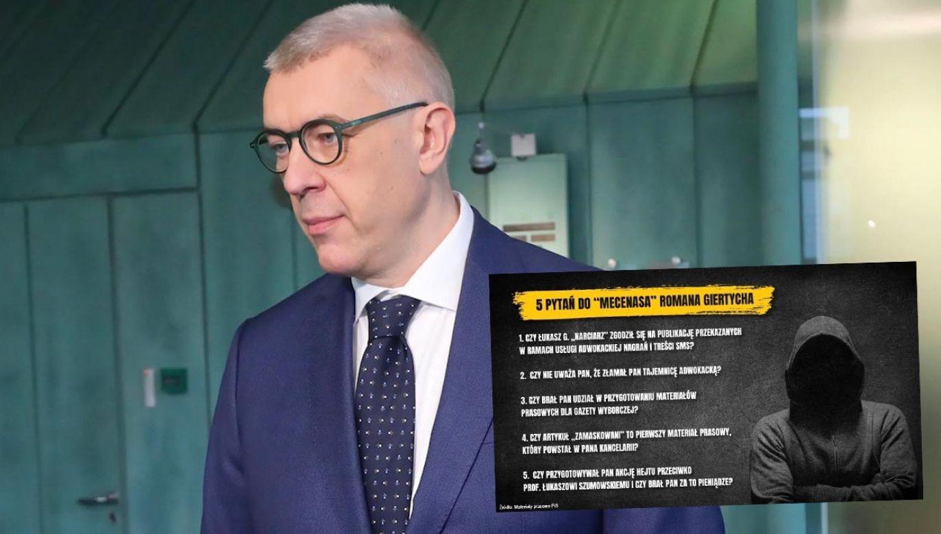 """Według """"SE"""" Łukasz G. zwrócił się do kancelarii adwokackiej Romana Giertycha (fot. arch.PAP/Wojciech Olkuśnik)"""