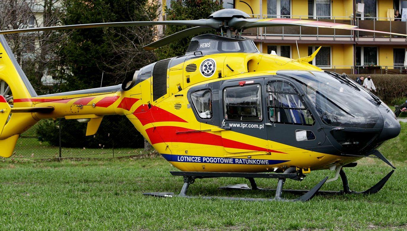 Na miejscu lądował śmigłowiec Lotniczego Pogotowia Ratunkowego (fot. Shutterstock, zdjęcie ilustracyjne)