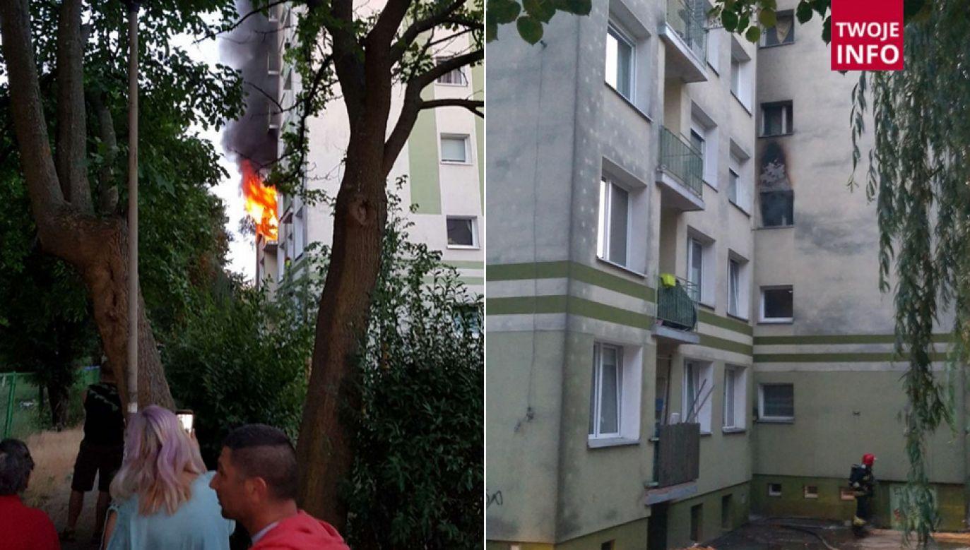 Strażacy szybko ugasili płomienie (fot. TT/Radio Zachód/Tomasz Nowacki)