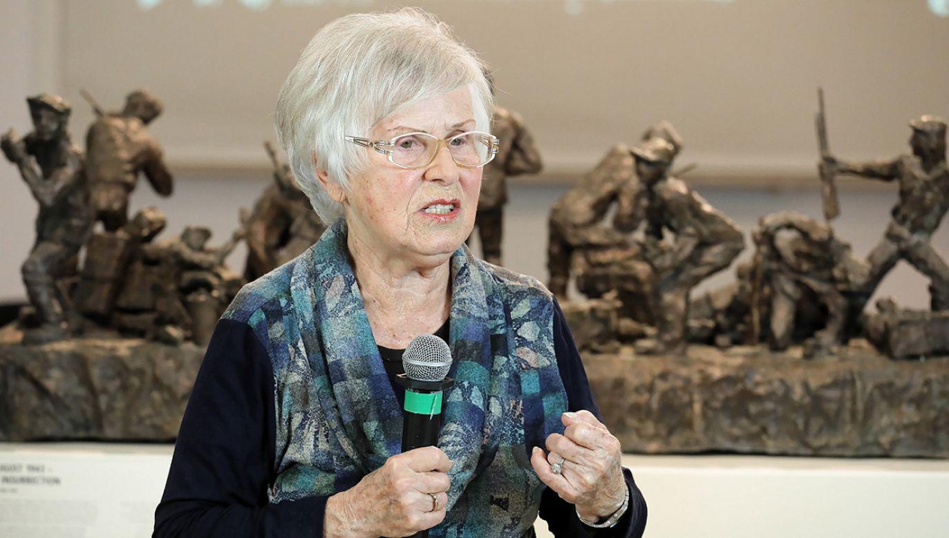 Ada Krystyna Willenberg, wdowa po Samuelu Willenbergu, autorze wstrząsających rzeźb inspirowanych obozowymi przeżyciami (fot. PAP/Paweł Supernak)