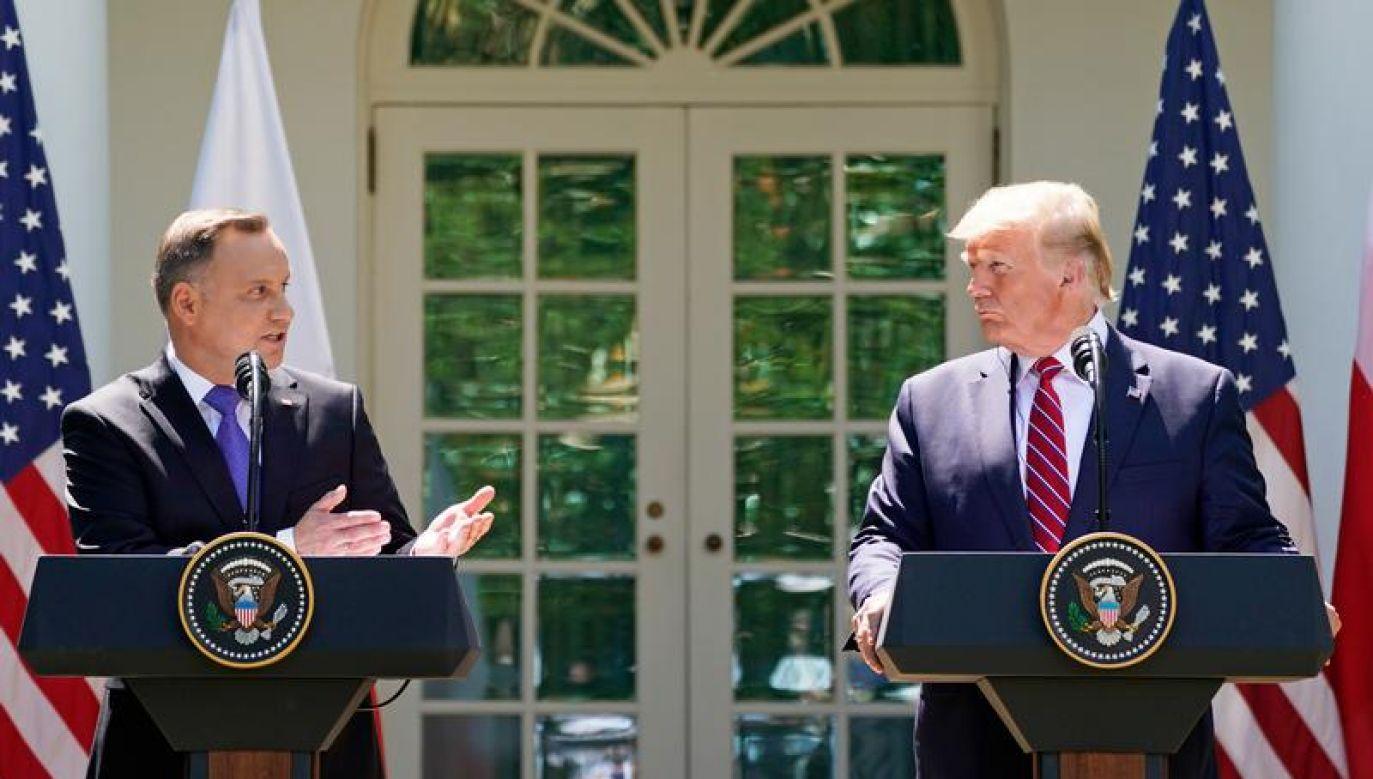 Andrzej Duda i Donald Trump spotkają się w poniedziałek w Nowym Jorku (REUTERS/Kevin Lamarque)