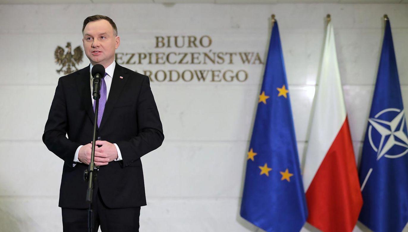 Do BBN prezydent zaprosił premiera i ministrów bezpośrednio odpowiedzialnych za walkę z epidemią (fot. PAP/Leszek Szymański)