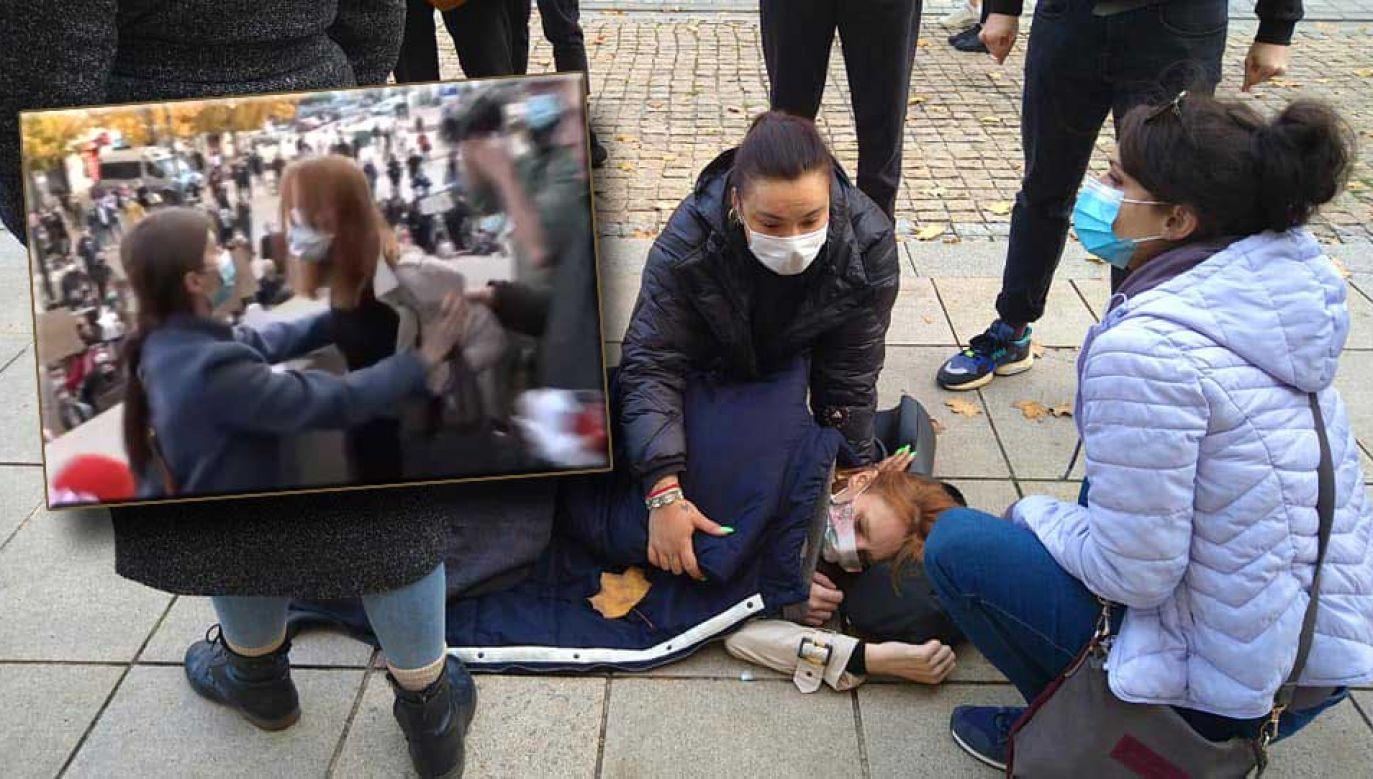 Są nagrania z protestu na Krakowskim Przedmieściu (fot. Facebook/WawaLove; Twitter/LewitujacyUmysl)