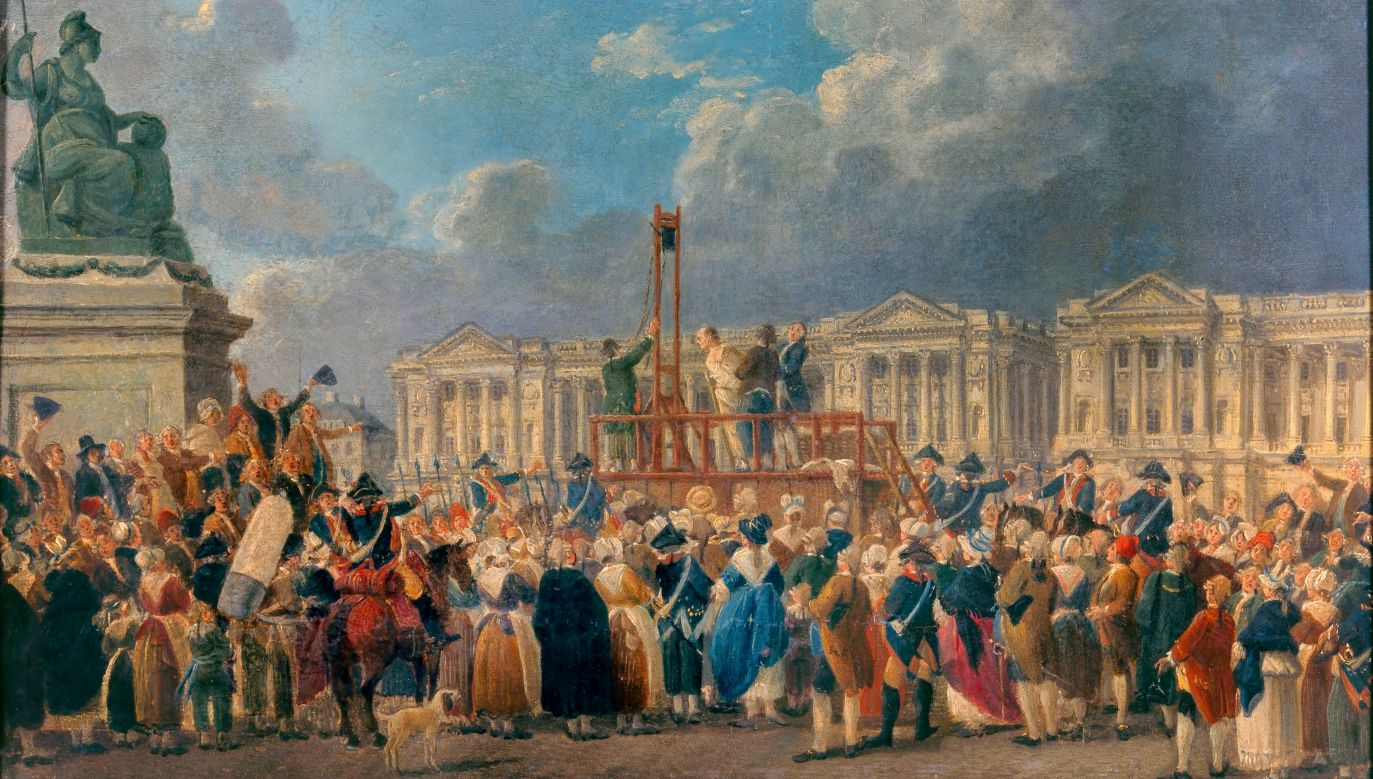 """Zdaniem de Maistre'a rewolucja francuska była buntem piekielnych sił, stawiających sobie za cel zburzenie ładu stworzonego przez Boga. Ilustracja: """"Egzekucja"""" pędzla Pierre'a Demachy (1723-1807).Fot. Christophel Fine Art/Universal Images Group via Getty Images"""