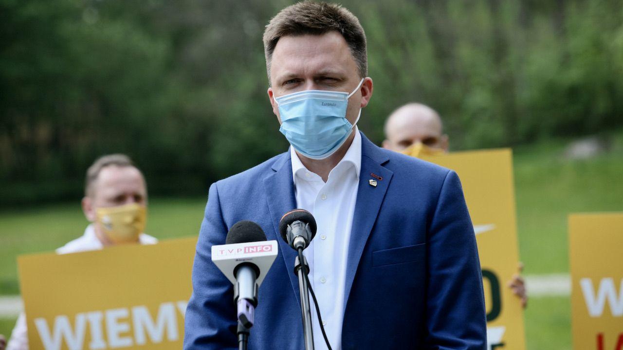 Jak Hołownia zareagował na Polski Ład? (fot. PAP/Lech Muszyński)