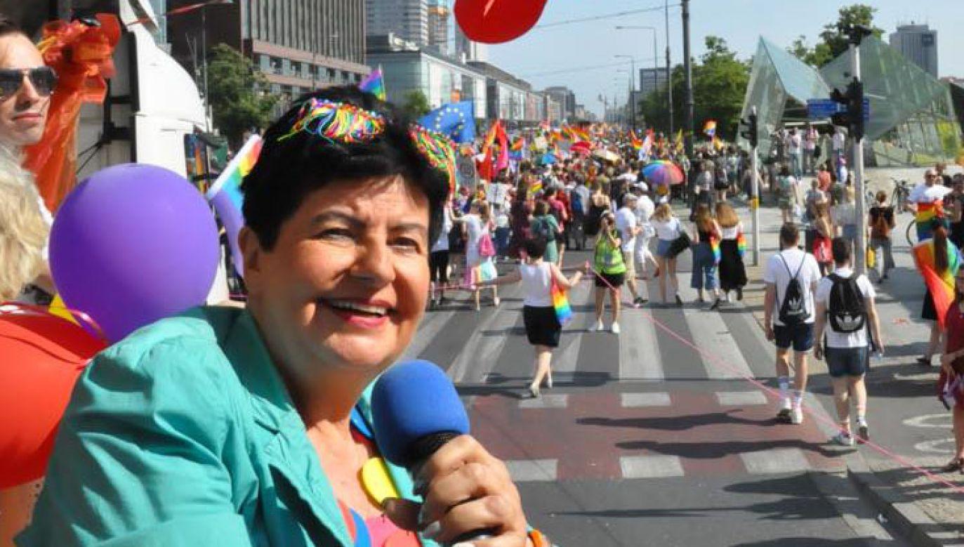 Zdaniem Joanny Senyszyn, Kościół szerzy nienawiść wobec środowisk LGBT (fot. Facebook/Joanna Senyszyn)