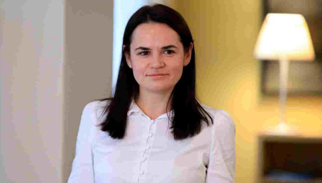 Swiatłana Cichanouska gościła ostatnio w Polsce (fot. PAP/EPA/STRINGER)