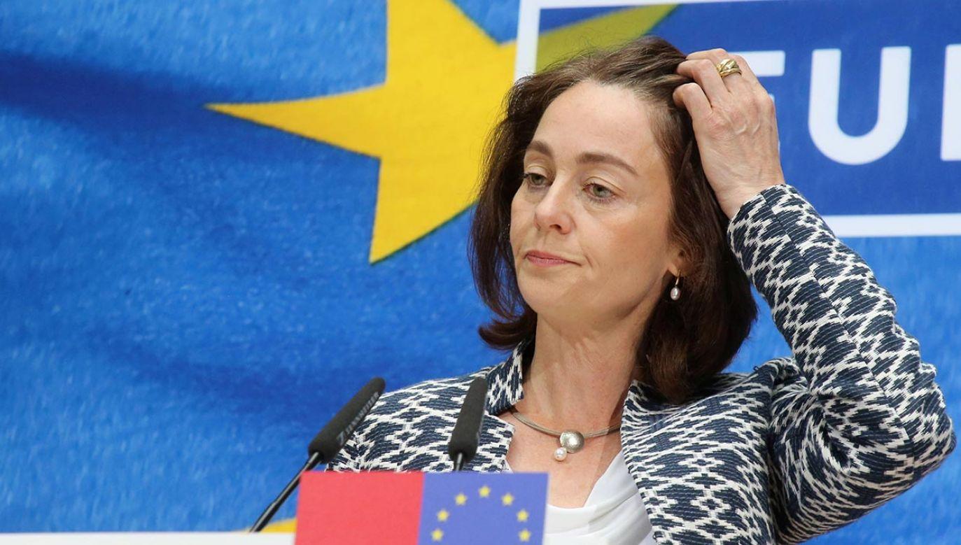 Wiceprzewodnicząca PE o możliwości zablokowania funduszy unijnych (fot. PAP/Wolfgang Kumm/DPA)