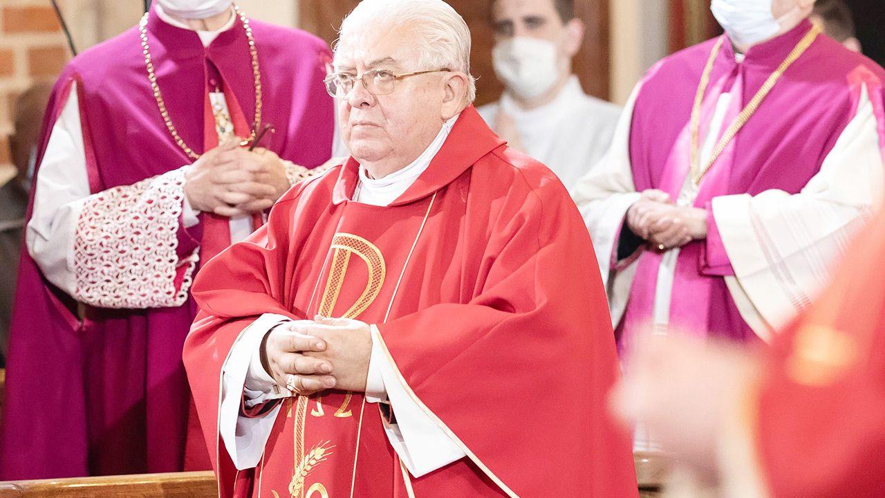 Bp Jan Tyrawa mówił o odwołaniu do Trójcy Świętej w preambule Konstytucji 3 Maja (fot. PAP/Marek Zakrzewski)