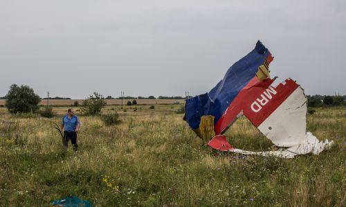 Szczątki zestrzelonego samolotu. Fot. Brendan Hoffman/Getty Images
