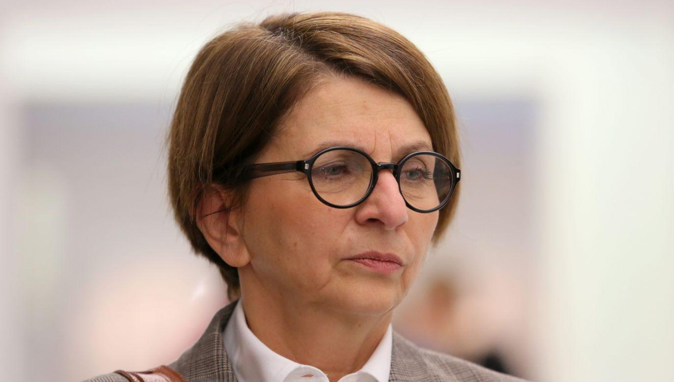 Była europosłanka usłyszała dziś, że w listopadzie ub. r. została zawieszona w prawach członka PO (fot. arch. PAP/Leszek Szymański)