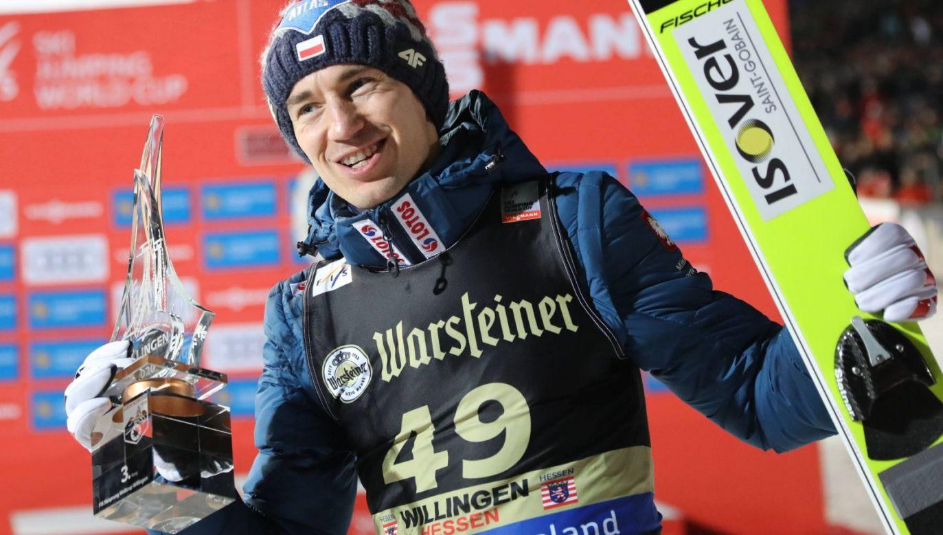 Kamil Stoch w zawodach w Willingen w 2020 roku (fot. PAP/Grzegorz Momot)