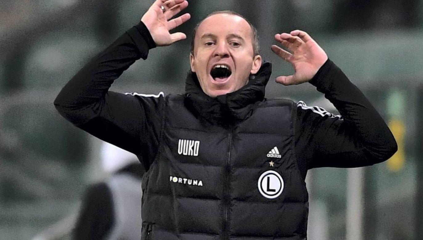 Aleksandar Vuković, trener Legii Warszawa (fot. PAP/Piotr Nowak)