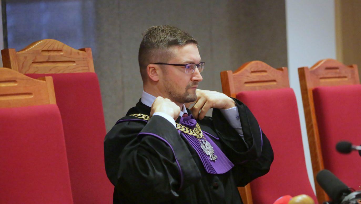 Sędzia Paweł Juszczyszyn (fot. PAP/Tomasz Waszczuk)
