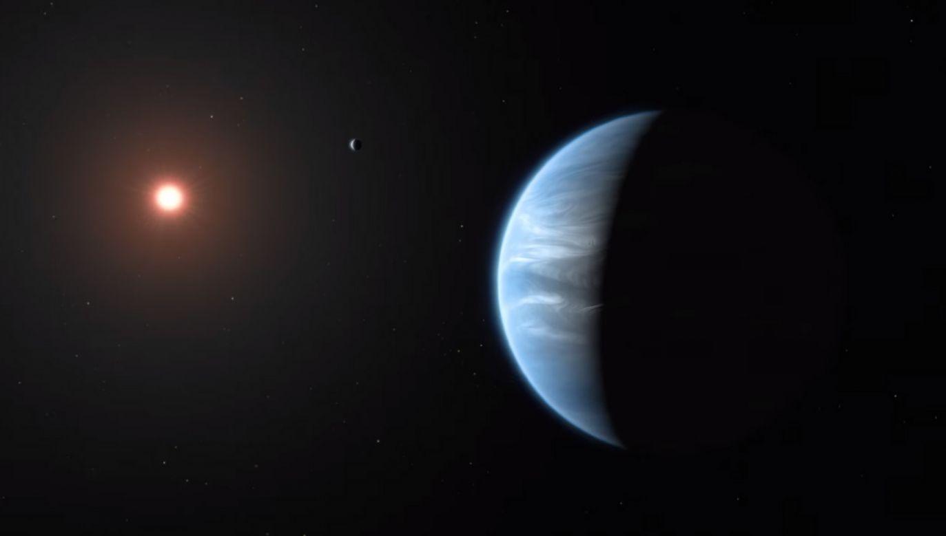 Egzoplaneta K2-18b jest ponad dwukrotnie większa i osiem razy cięższa od Ziemi (fot. YouTube/ VideoFromSpace)
