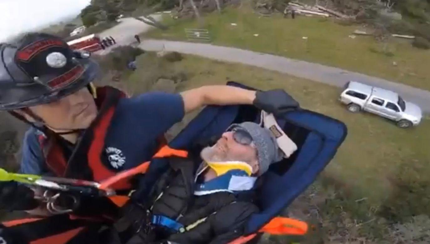 Służby hrabstwa Marin uratowały parę, która zaginęła w walentynki  (fot. Twitter/Marin County Sheriff)