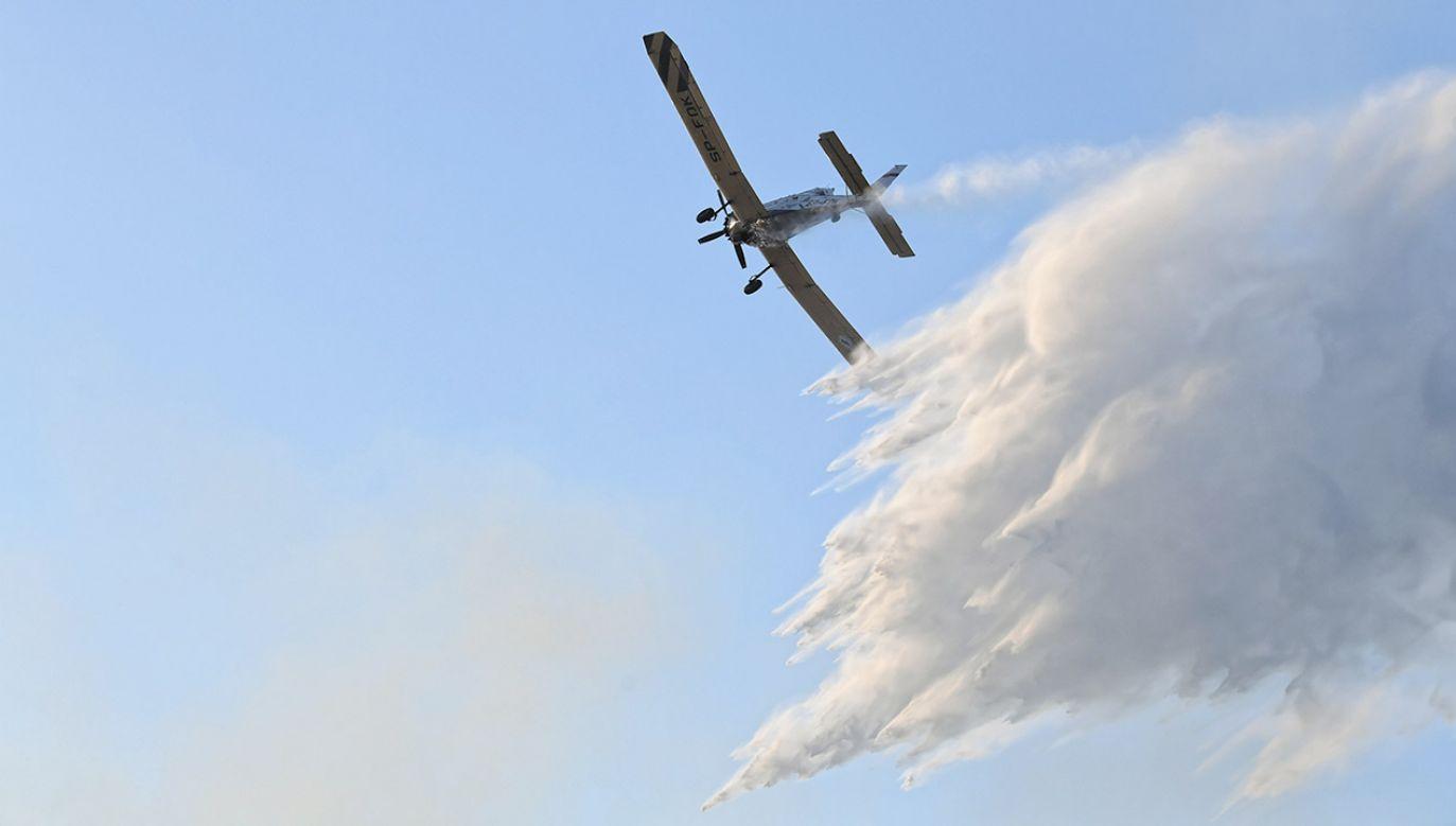 Na miejsce zdarzenia zadysponowano także samoloty gaśnicze (fot. arch.PAP/Tytus Żmijewski, zdjęcie ilustracyjne)