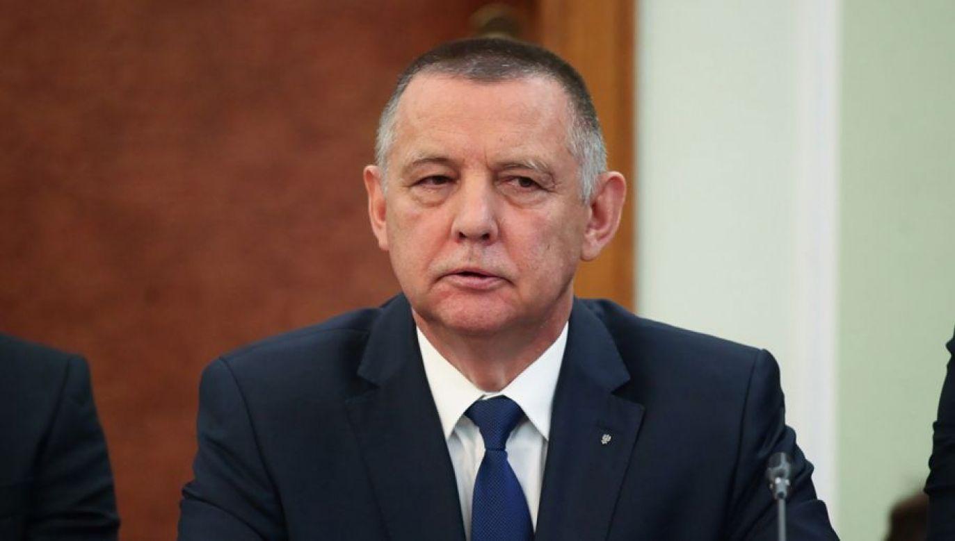 Prezes NIK oświadczył, że był gotów złożyć rezygnację, ale stał się przedmiotem brutalnej gry politycznej i od rezygnacji odstąpił (fot. PAP/Mateusz Marek)