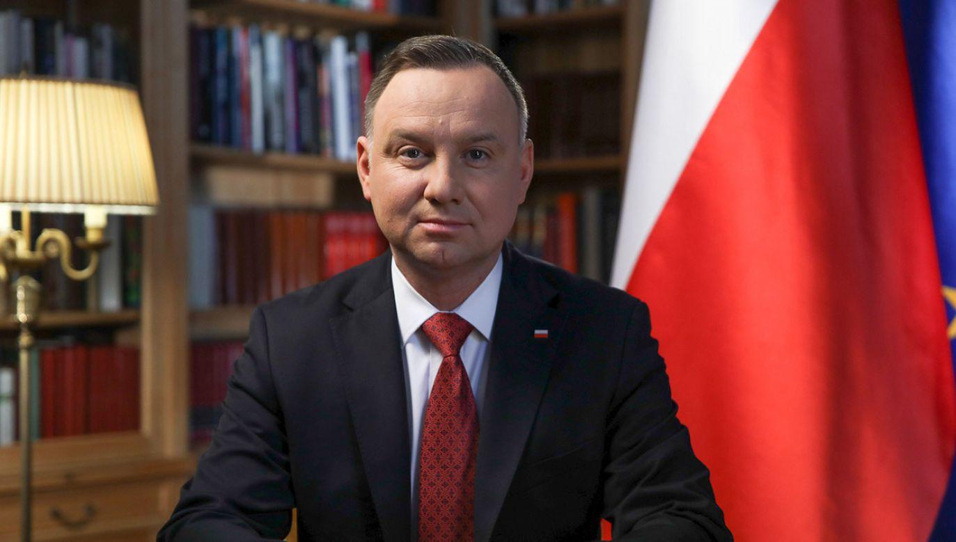 – Stoimy przed jednym z największych wyzwań ostatnich dziesięcioleci – powiedział prezydent (fot. Jakub Szymczuk/KPRP)