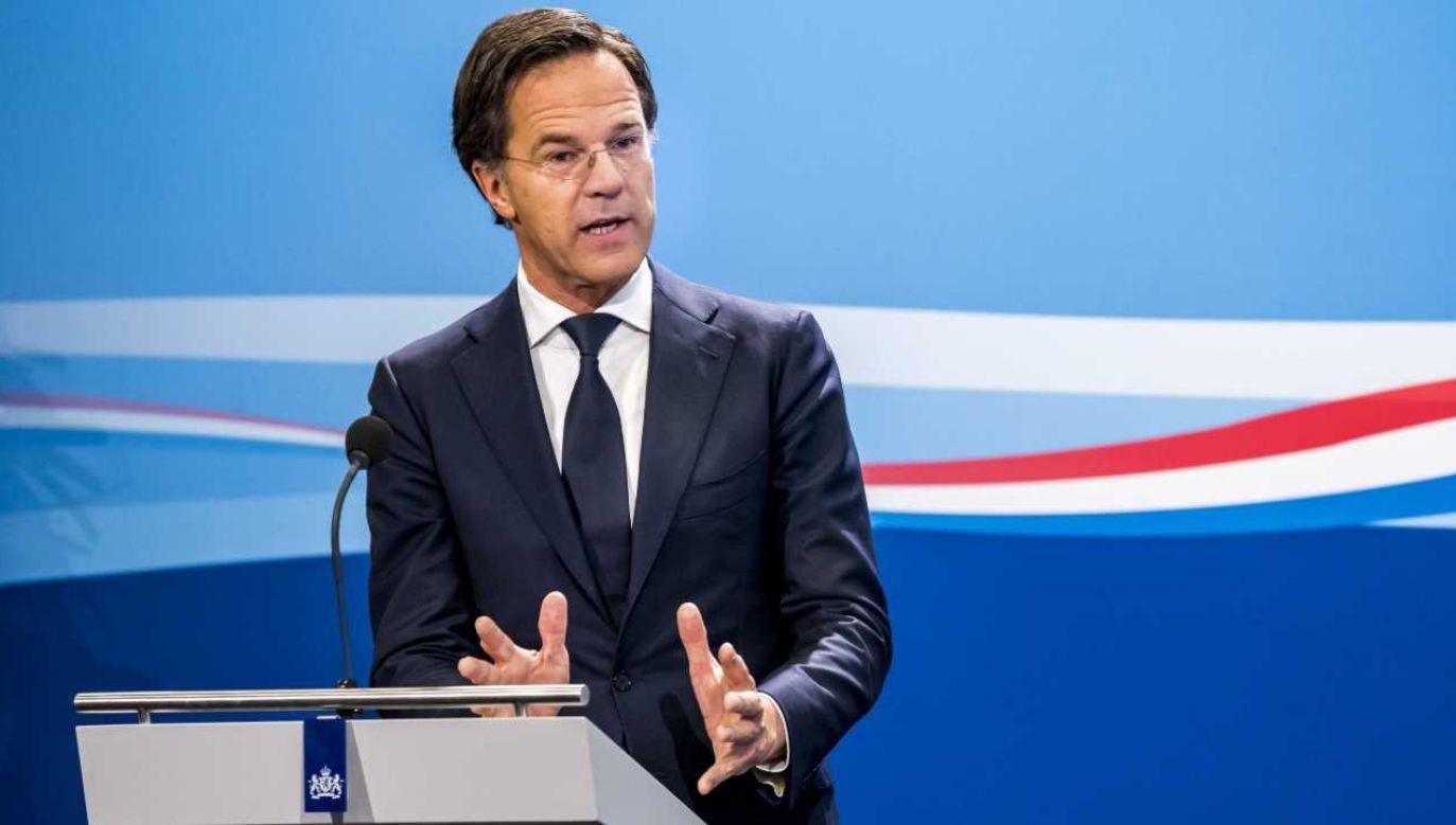 Premier Holandii Mark Rutte (fot. PAP/EPA/LEX VAN LIESHOUT)