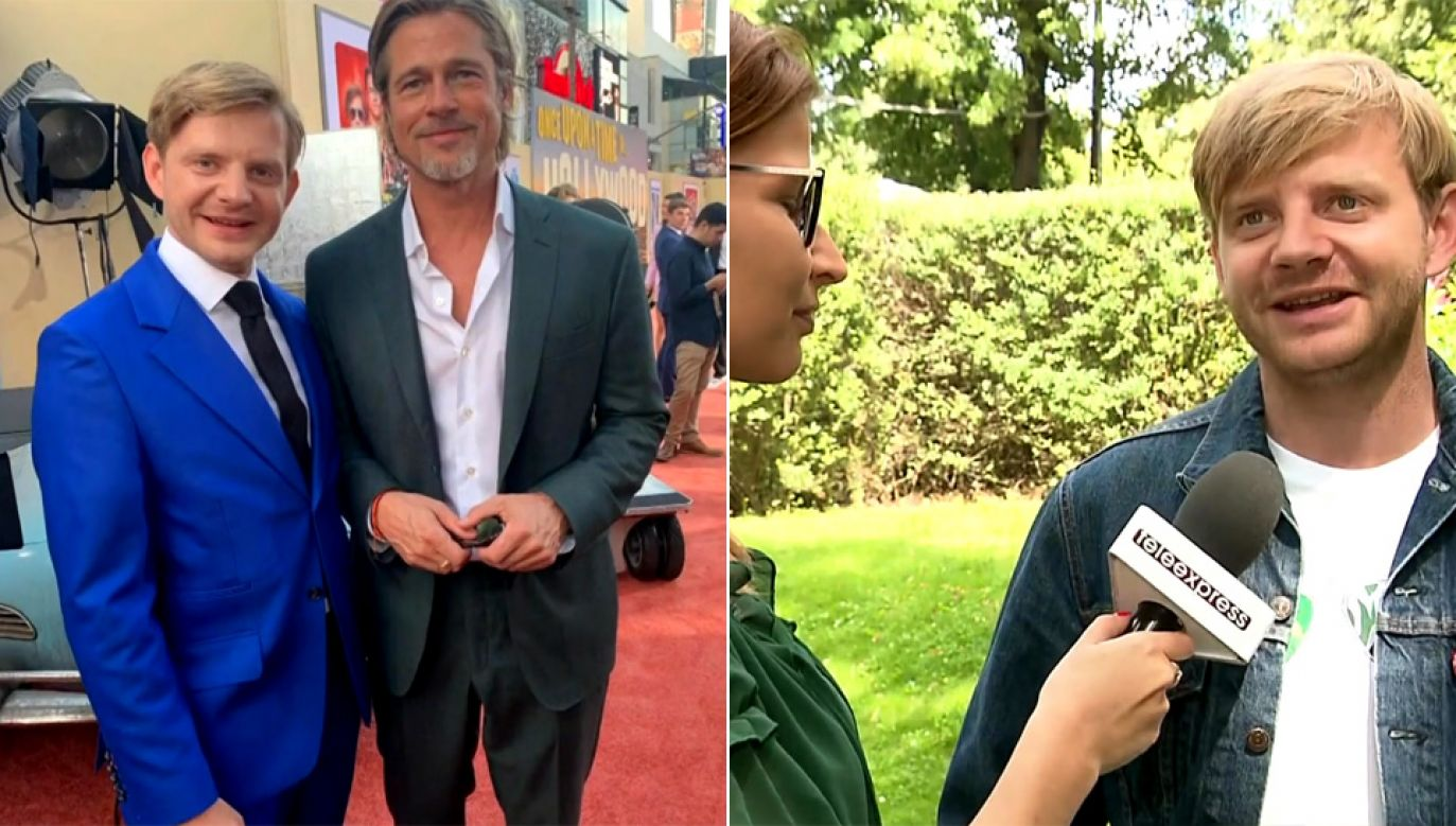 Rafał Zawierucha grał m.in. z Bradem Pittem (fot. TVP Info/arch.pryw.)
