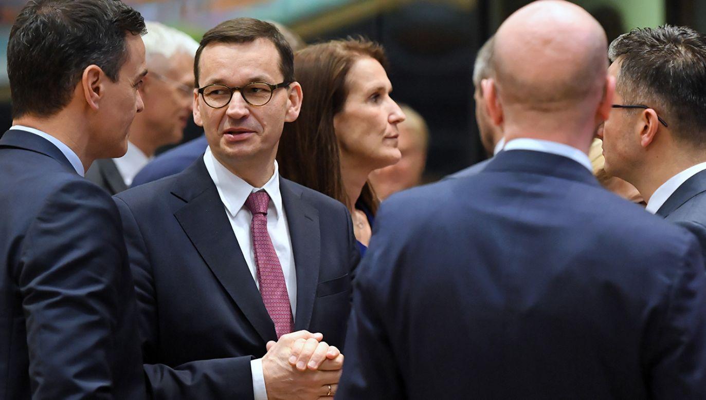 Premier Mateusz Morawiecki skomentował szczyt UE w Brukseli (fot. PAP/Radek Pietruszka)