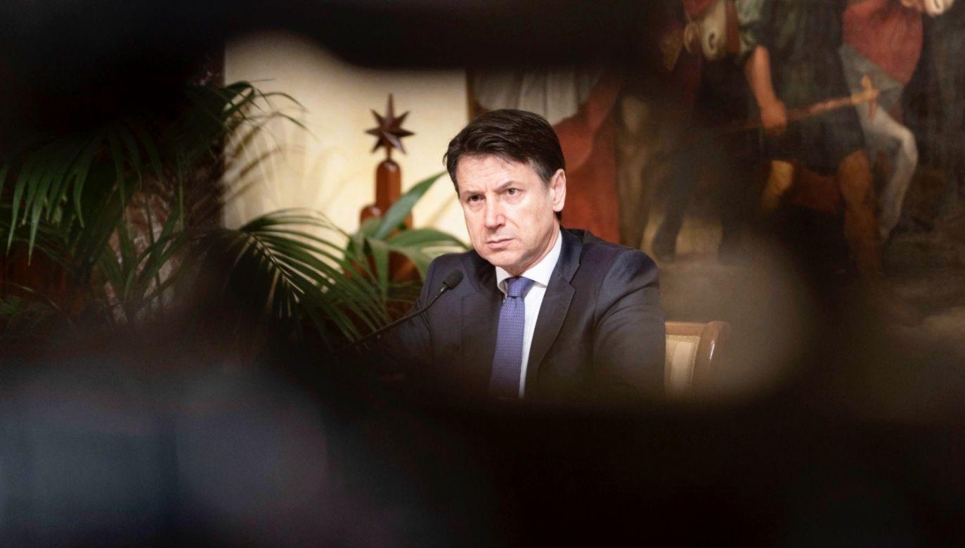 Jako niewystarczające unijne zaangażowanie ocenia chociażby premier Włoch, Giuseppe Conte  (fot. PAP/EPA/Palazzo Chigi)