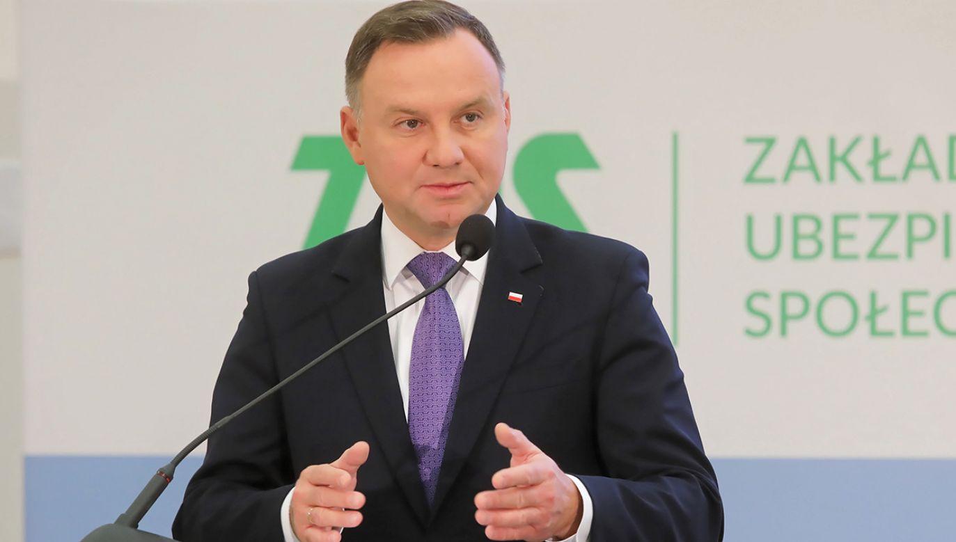 Wg Stanisława Karczewskiego największe szanse na wybór, na reelekcję ma Andrzej Duda (fot. PAP/Wojciech Olkuśnik)