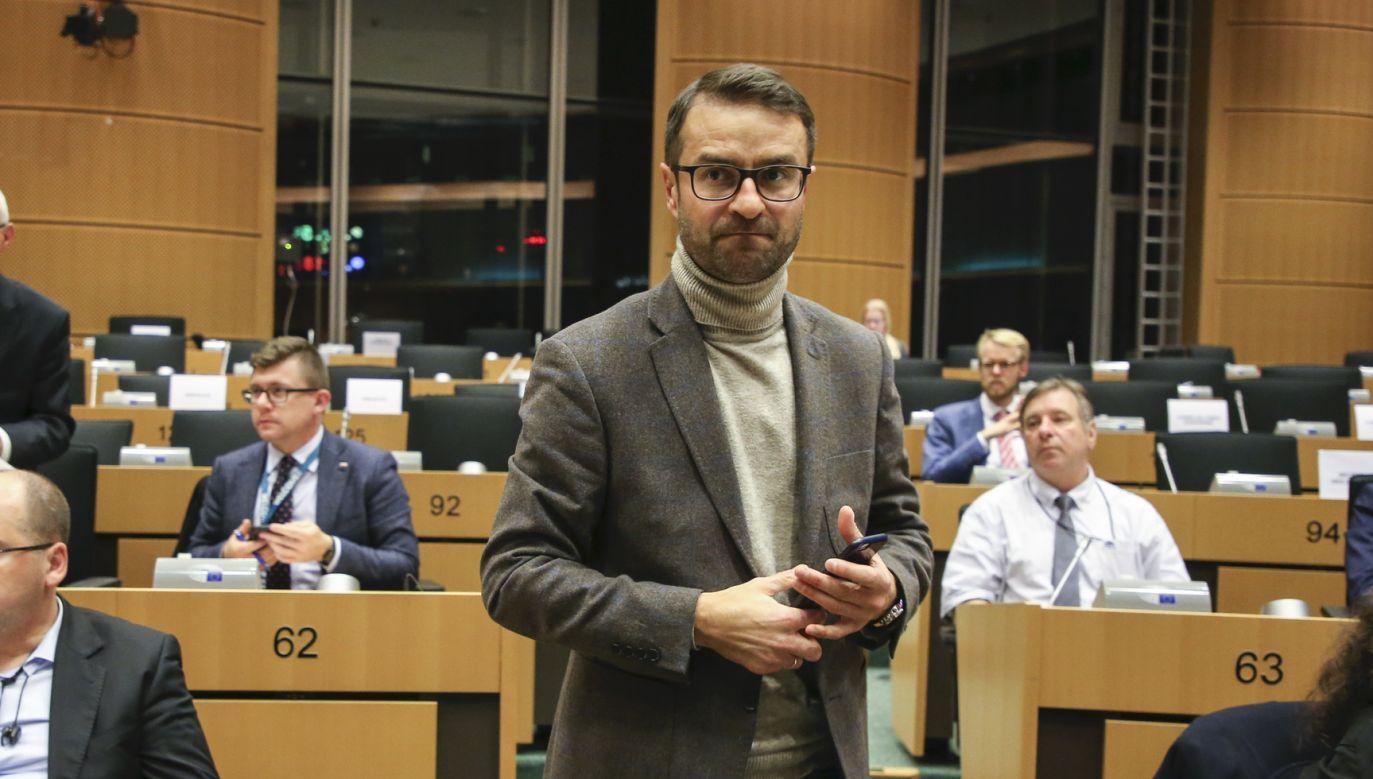 Tomasz Poręba twardo ws. Nord Stream 2 (fot. Didier BAUWERAERTS, European Union 2019/ EP)