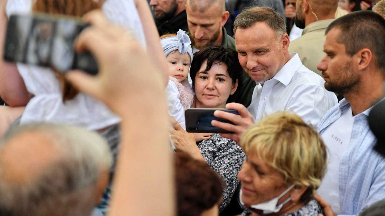 Ankietowani wskazali na prezydenta Andrzeja Dudę (fot. PAP/Wojtek Jargiło)