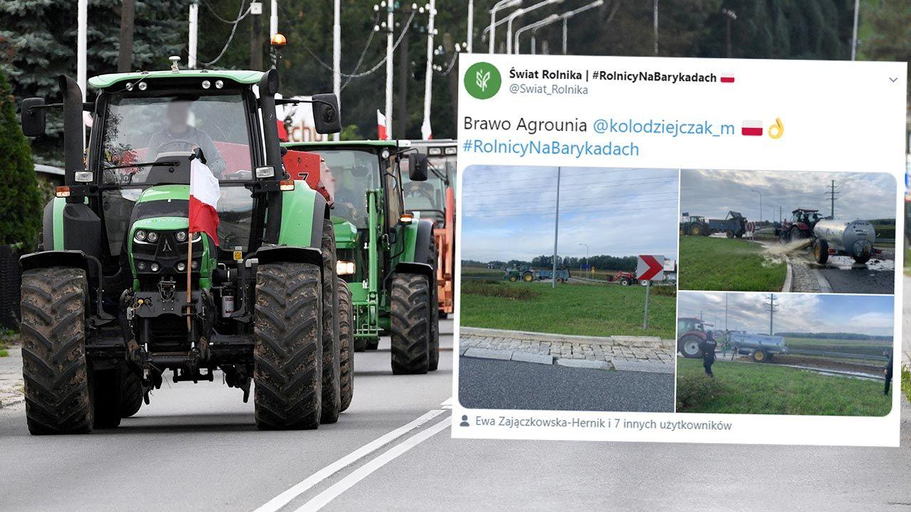 """Agrounia protestuje przeciw """"Piątce dla zwierząt"""" (fot. PAP/Darek Delmanowicz)"""