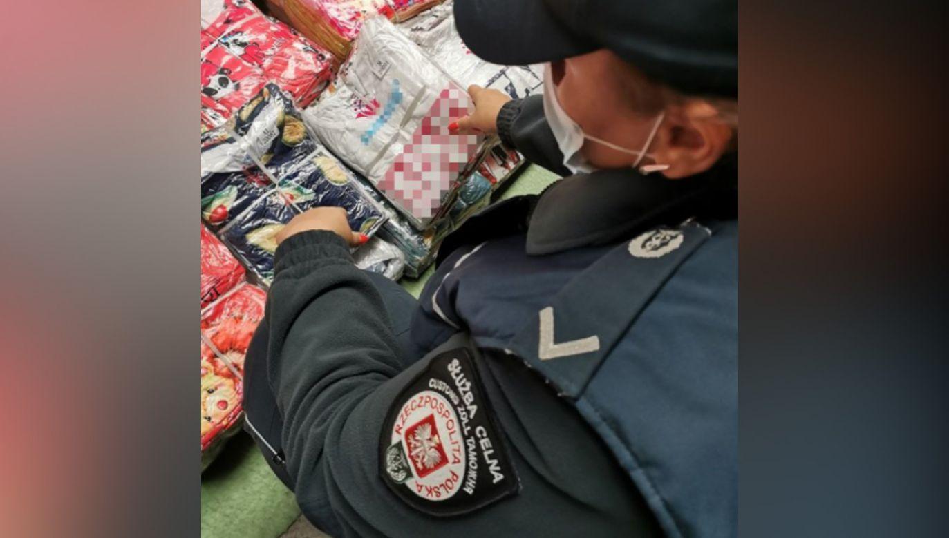 Towar pochodził z Chin i miał trafić na Ukrainę (fot. KAS)
