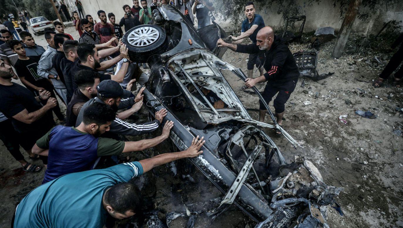 Konflikt między Izraelem a Palestyną zaostrza się (fot. arch.PAP/Abaca)
