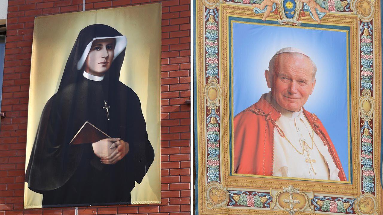 Przesłanie św. Faustyny i św. Jana Pawła II jest wciąż aktualne – napisał Andrzej Duda (fot. PAP/Łukasz Gągulski, Radek Pietruszka)