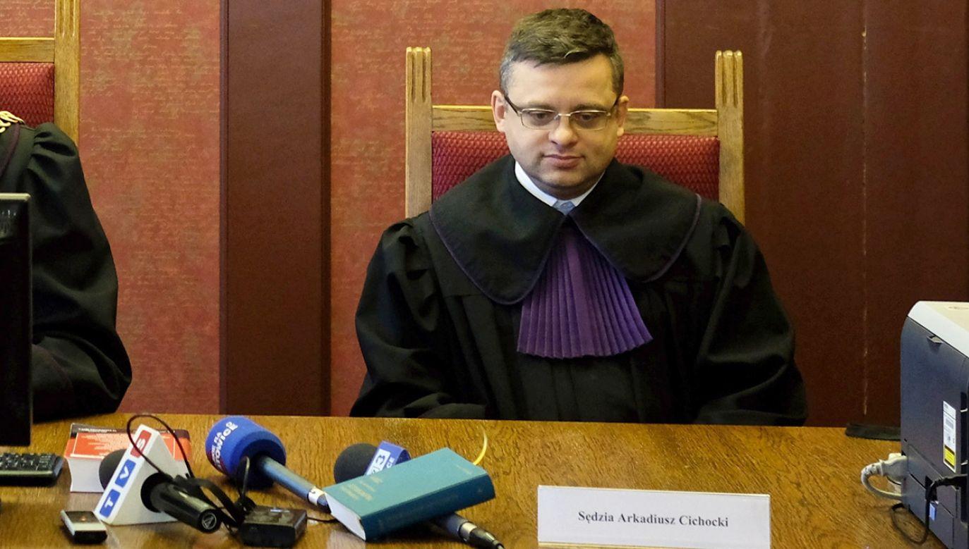 Sędzia Arkadiusz Cichocki był do marca 2019 r. prezesem Sądu Okręgowego w Gliwicach (fot. arch.PAP/Andrzej Grygiel)