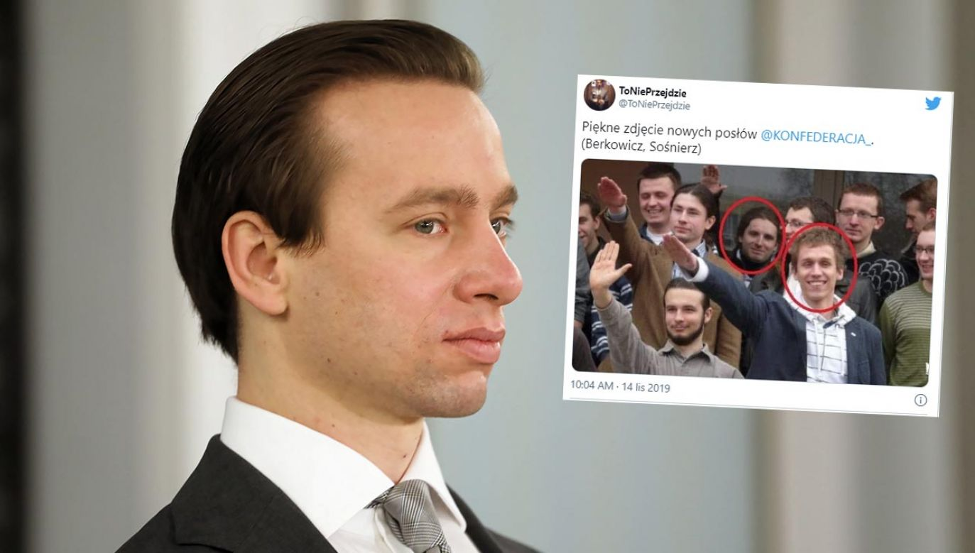 Poseł Konfederacji Krzysztof Bosak nie chciał komentować happeningu sprzed lat (fot. PAP/Albert Zawada)