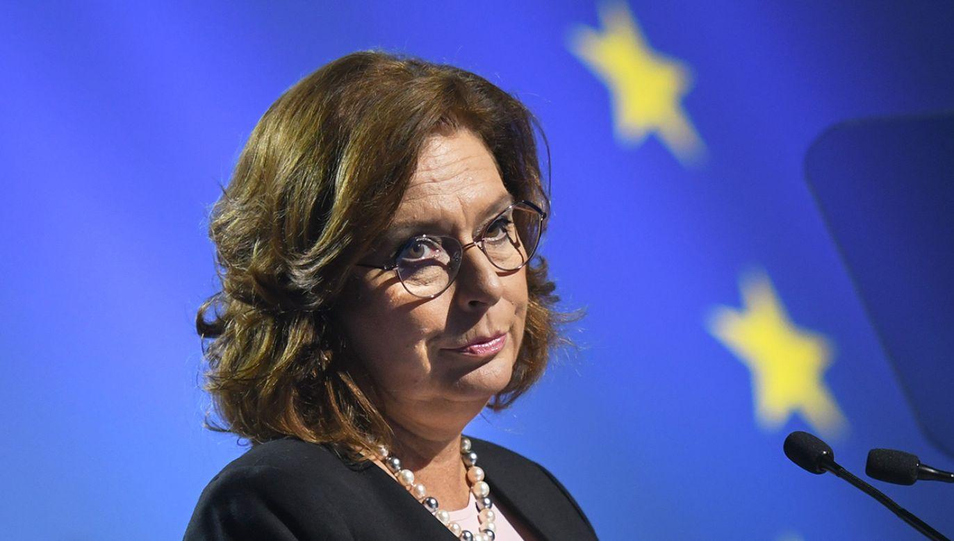 Małgorzata Kidawa-Błońska została zapytana o znaczenie solidarności narodowej Polaków (fot. Artur Widak/NurPhoto via Getty Images))