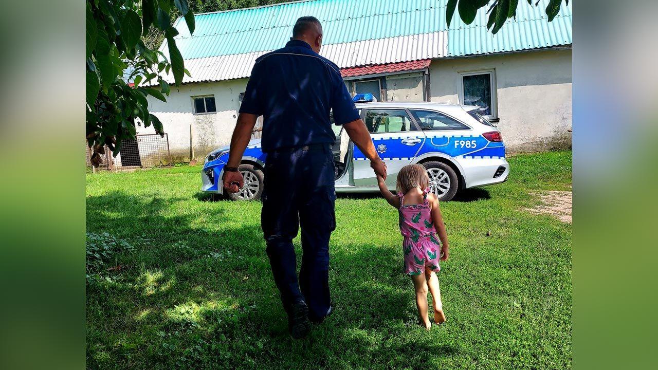Dziecko jest już bezpieczne (fot. Policja)