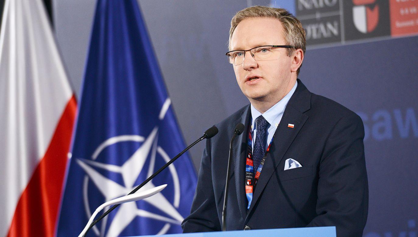 Krzysztof Szczerski kandyduje na wiceszefa NATO (fot. arch.PAP/Jacek Turczyk)
