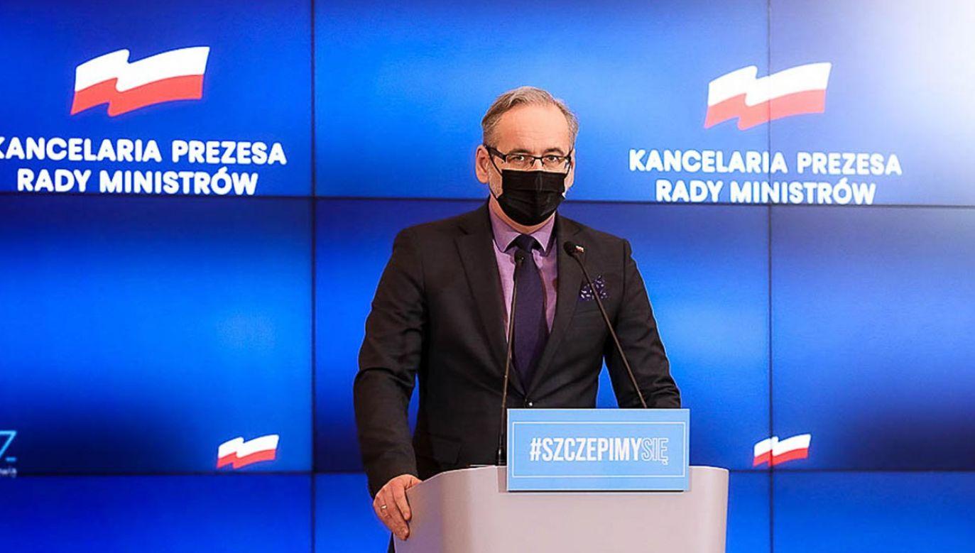 Adam Niedzielski: Posiadanie przeciwciał to minimum odporności na koronawirusa (fot. Krystian Maj/KPRM)