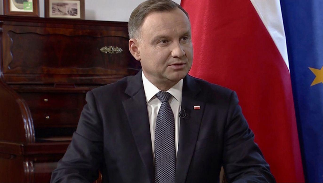 Prezydent Andrzej Duda (fot. TVP)
