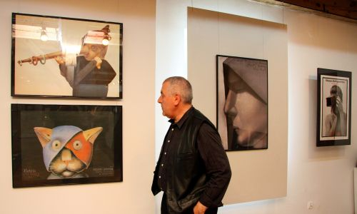 W 2009 roku artysta prezentował swoje prace w Koszalinie. Fot. PAP/Jerzy Undro