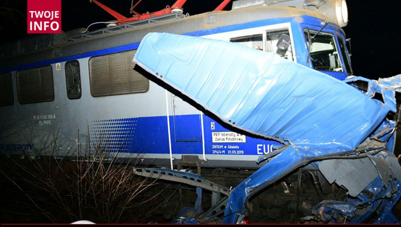 Do wypadku doszło w godzinach wieczornych na szlaku kolejowym między Nowymi Herbami a Pankami (fot. Twoje Info)