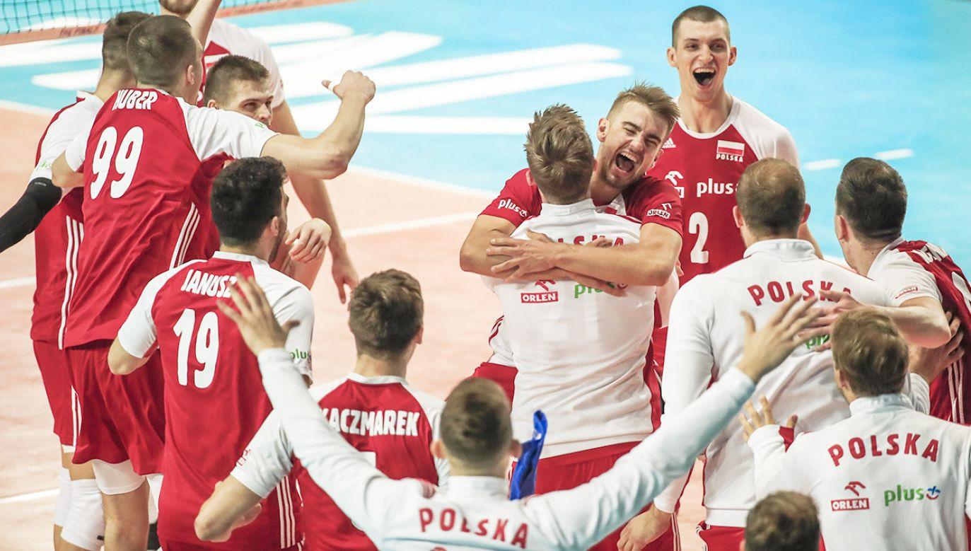 Polacy zagrają w półfinale Ligi Narodów (fot. PAP/EPA/TANNEN MAURY)